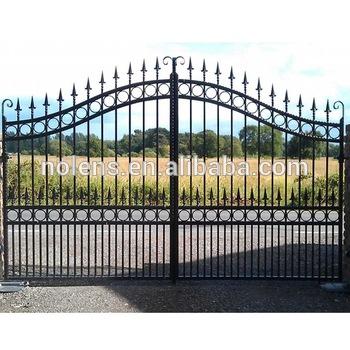 Wrought Iron Gate,Modern Iron Gate Designs/black Powder Coated .