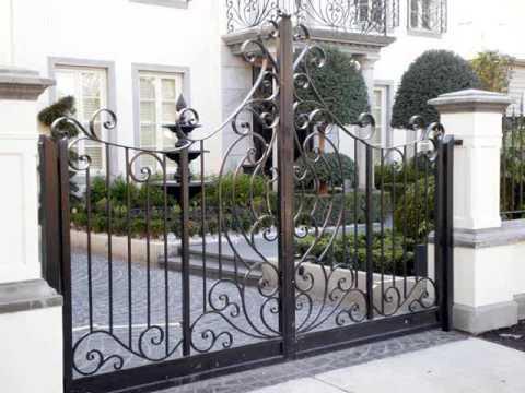 Wrought Iron Gate Design Ideas | Wrought Iron Gates - YouTu