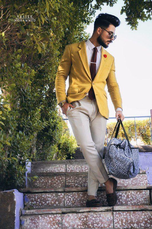 ستايل اليوم, ستايل رسمي صيفي مع السترة الصفراء | Estilos de moda .