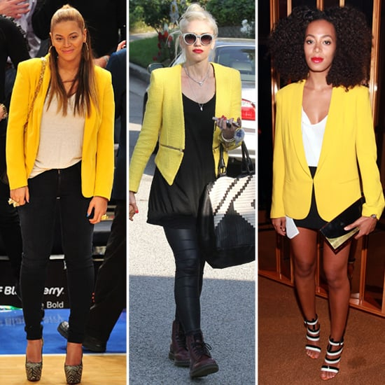 Celebrities in Yellow Blazers | POPSUGAR Fashi