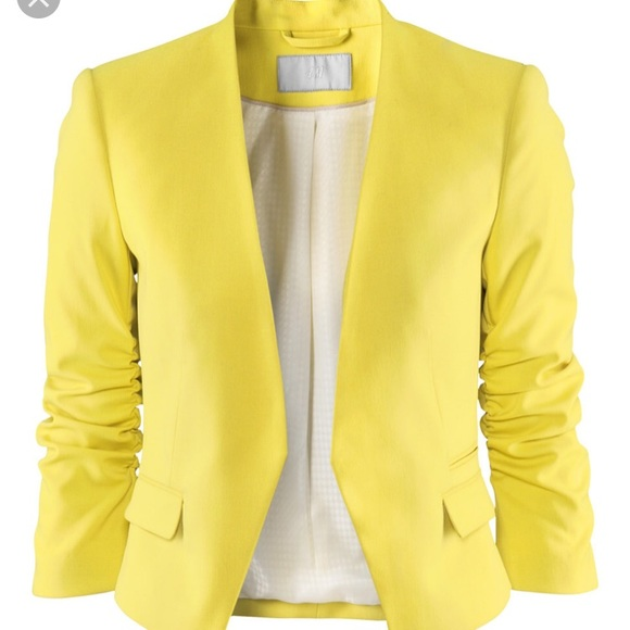H&M Jackets & Coats | Yellow Blazer | Poshma