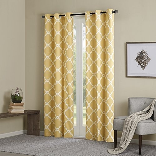 Yellow Curtains For Living room, Modern Contemporary Silver Room .