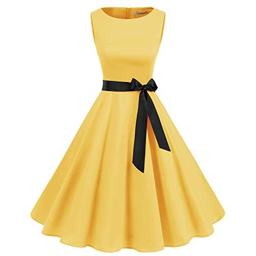 Vintage 1950 Yellow Dresses: Amazon.c