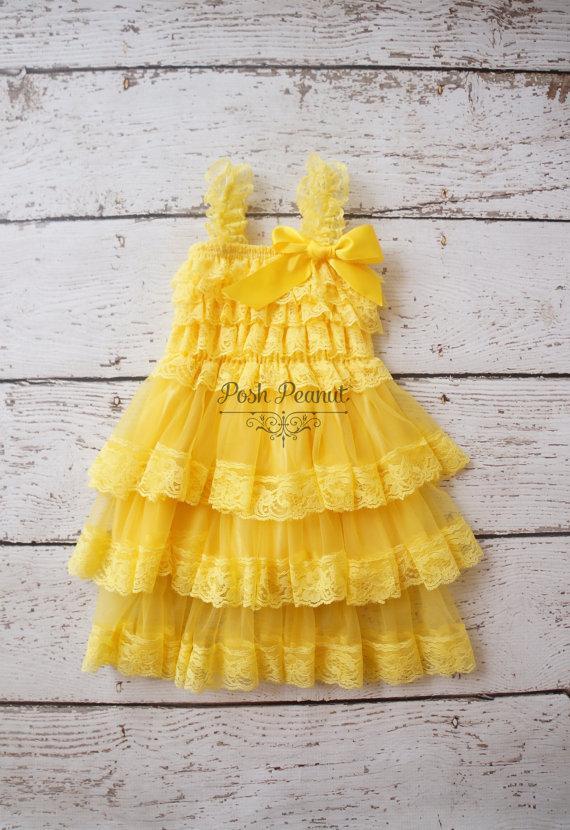 Flower Girl Dresses - Yellow Flower Girl Dress- Flower Girl Dress .