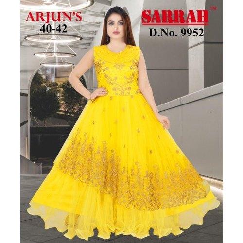 Sarrah Party Wear Girls Yellow Frocks, Rs 500 /piece Kaveri .