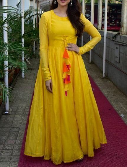 Full Long And Bridal Gown (With images) | Full sleeve gowns, Kurti .