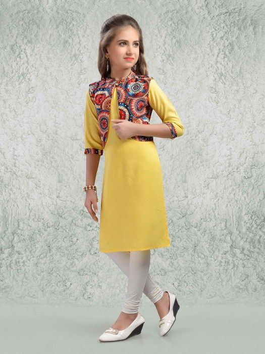 Yellow Color Silk Fabric Salwar Suit, Latest designer salwar suits .
