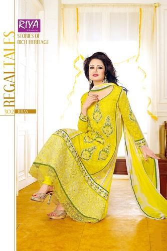 Karachi Yellow Salwar Kameez Suits at Rs 995/piece(s) | Salwar .
