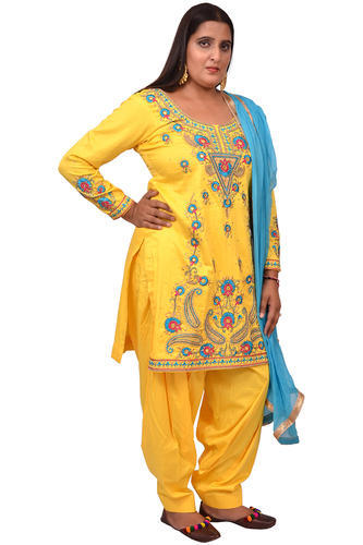 glace cotton Yellow Designer Salwar Suit, Rs 2100 /piece Punjabi .