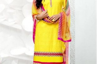 Pristine Yellow Cotton Lace Work Party Wear Designer Salwar Su