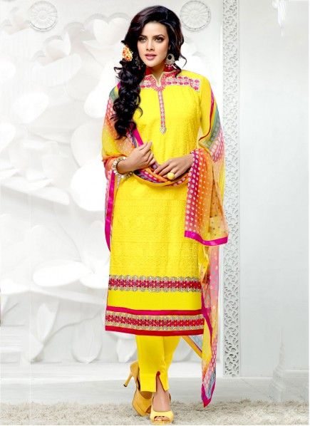 Yellow Salwar Kameez Designs