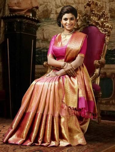 Party Wear Real Zari Gold Pure Kanchipuram Silk Sarees, Rs 16000 .