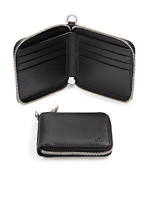 Gucci Leather Zip-Around Wallet | Leather wallet mens, Zip around .